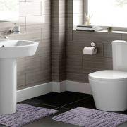 Jogo de Tapete para Banheiro 2 Peças 100% Algodão Murano Rozac Cinza