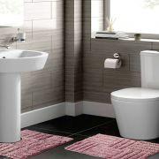 Jogo de Tapete para Banheiro 2 Peças 100% Algodão Murano Rozac Rosa