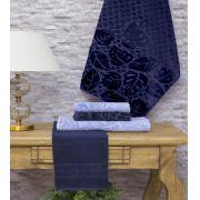 Jogo de Toalhas Buettner 5 Peças Dominic  Jeans/Navy Blue