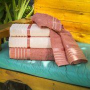 Jogo de Toalhas de Banho Karsten Otto 4 Peças Salmão/Rosa