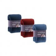 kit com 3 Manta Cobertor Microfibra King Aconchego Rozac