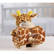 Kit Manta Microfibra com Bichinho de Pelúcia Baby Bouton Girafa