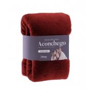 Manta Cobertor de Microfibra Casal  Lisa Aconchego Rozac