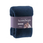 Manta Cobertor de Microfibra Solteiro Lisa Aconchego Rozac