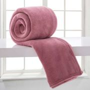 Manta de Microfibra Casal Toque Flannel 1,80m x 2,20m Corttex Rosa Claro