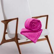 Manta de Microfibra Casal Toque Flannel 1,80m x 2,20m Rozac Pink