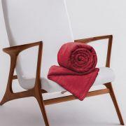Manta de Microfibra Casal Toque Flannel 1,80m x 2,20m Rozac Vermelho