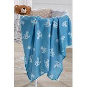 Manta para Bebê Fleece 85cm x 1,10m Estampada Ponei Hedrons