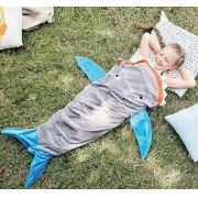 Manta Saco de Dormir Infantil Microfibra Bouton 1,40m x 60cm Baleia