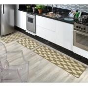 Tapete para Cozinha Kit com 3 Peças Sisal Sislle Lancer