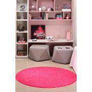 Tapete para Sala Quarto Redondo 1,50m Classic Teen Pink Oasis