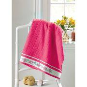 Toalha de Banho Felpuda Algodão Jacquard Premium Dohler Liso FJ-6187 Pink