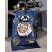 Toalha de Banho Infantil Dohler Star Wars 10 Felpuda