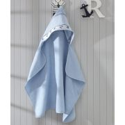 Toalha de Banho com capuz para Bordar Dohler Baby Kids Azul Marítimos