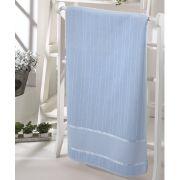 Toalha de Banho para Bordar Aveludada Bella Liso Azul Dohler