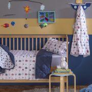 Toalha de Banho para Bebê com Capuz Santista 100% Algodão Mariner Azul