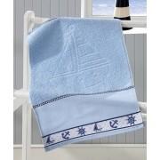 Toalha de Lavabo para Bordar Dohler Baby Kids Felpuda Marinheiro Azul