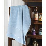 Toalha de Lavabo para Bordar Felpuda Firenze III Dohler Azul