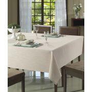 Toalha de Mesa para 4 Cadeiras 1,60m x 1,60m Passion Lisa Bege Dohler