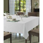 Toalha de Mesa para 4 Cadeiras 1,60m x 1,60m Passion Lisa Branca Dohler