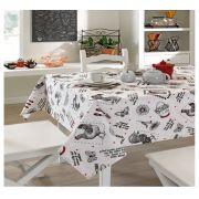 Toalha de Mesa para 6 Cadeiras 1,40m x 2,10m Clean Evelise Dohler