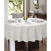 Toalha de Mesa Redonda para 8 Cadeiras 2,00m  Passion Lisa Branca Dohler