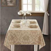 Toalha de Mesa Retangular para 6 Cadeiras 2,20m x 1,50m Jacquard Toscana Florença Corttex