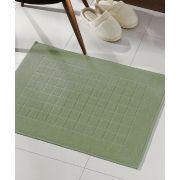 Toalha de Piso Felpudo  Dohler Royal 45cm x 70cm Liso Verde Musgo
