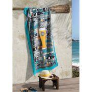 Toalha de Praia Estampada Aveludada Beer Dohler