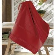Toalha de Rosto para Pintar Aveludada Artesanalle Liso Vermelha Dohler