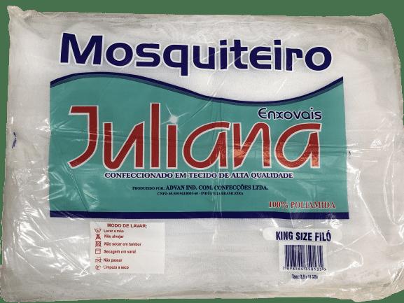Kit com 2 Mosquiteiros de Teto Casal King Simples 3,50m x 11m Branco Juliana