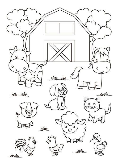 kit toalha infantil para colorir buettner fazendinha