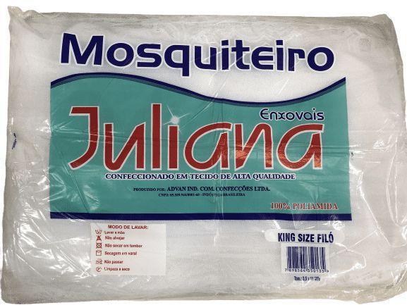 Mosquiteiro de Teto Especial Simples 3,00m x 10m Branco Juliana