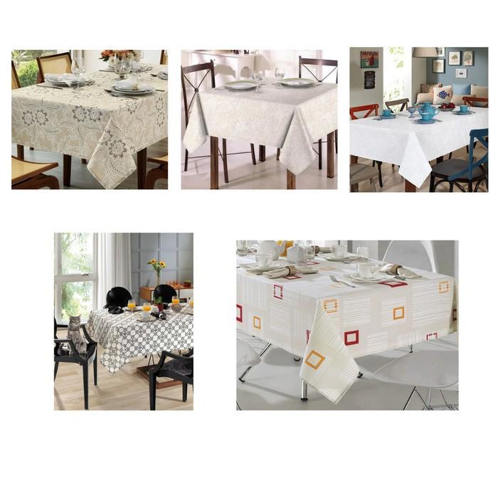 Toalha de Mesa para 4 Cadeiras 1,40m x 1,40m Clean Dohler