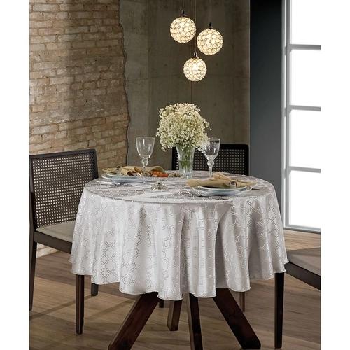 Toalha de Mesa Redonda para 4 Cadeiras 1,60m Jacquard Dohler