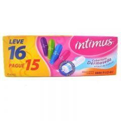 Absorvente interno intimus médio com 16 unidades
