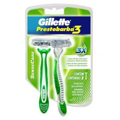 Aparelho de Barbear Gillette Prestobarba 3 Sense Care 2 Unidades