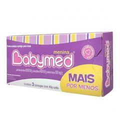 Babymed Rosa Pomada kit com 3 Bisnagas de 45 g