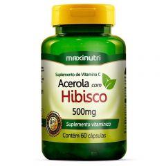 Chá Maxinutri Hibisco+Acerola com 60 Cápsulas