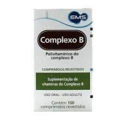 Complexo B com 100 Comprimidos Revestido EMS
