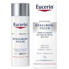Creme Anti-idade Facial Eucerin Hyaluron-Filler Dia FPS-15 com 51g