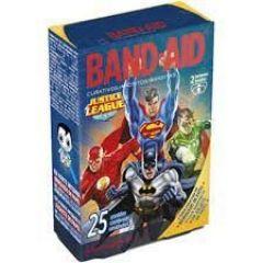 Curativo infantil Band-Aid Liga da Justiça com 25 Unidades