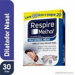 Dilatador Nasal Respire Melhor Pele Normal 30 unidades Leve 30 Tiras Pague 20