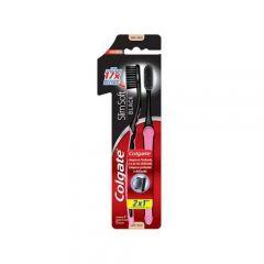 Escova Dental Colgate Slim Soft Black 2 Unidades