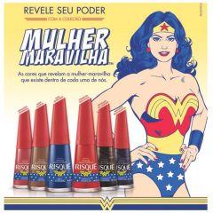 Esmalte Risqué Mulher Maravilha - Azul Estrelado   6 unidades