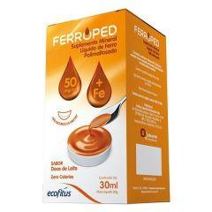 Ferroped 50mg/ml Gotas 30ml- sabor doce de leite (ferro) (ecofitus)