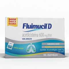 Fluimucil-D 600mg com 16 Envelopes Zambon