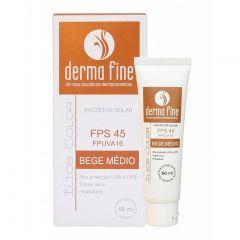 Ilios Color Protetor Solar 60ml Bege Medio Derma Fine