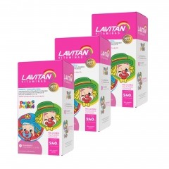 Kit 3x Suplemento Vitamínico Lavitan Infantil Patati Patata Tutti Frutti 240mL