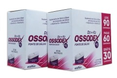kit com 2 caixas de Fonte de Cálcio Ossodex